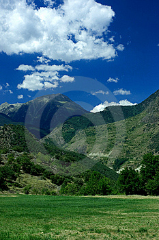 Mountains And Meadow Royalty Free Stock Image - Image: 16013636