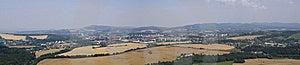 Panorama City Valasske Mezirici Stock Images - Image: 16013874