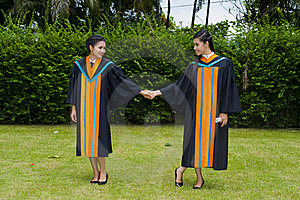 Asian Students On Their Graduation Day Royalty Free Stock Photos - Image: 16016788