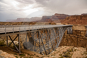 Old Railway Bridge Over Marble Canyon Stock Photo - Image: 16018740