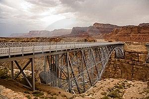 Old Railway Bridge Over Marble Canyon Stock Photo - Image: 16018740
