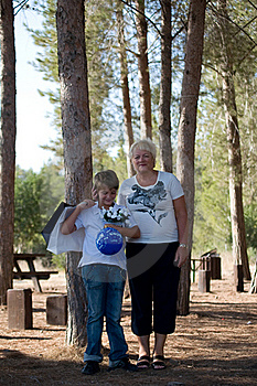 Boy With His Grandmother. Stock Photo - Image: 16019860