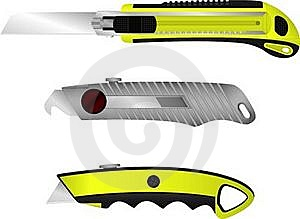 Set Of Cutter Knifes Royalty Free Stock Photos - Image: 16020098