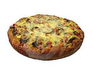 Home-made Thick Pizza With Mushrooms And Ham Stock Photos - Image: 16020593