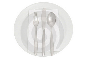 Plate With Cutlery And Serviette Royalty Free Stock Photography - Image: 16020857