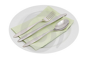 Plate With Cutlery And Serviette Stock Photos - Image: 16020863