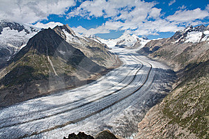 Glacier In The Alps Royalty Free Stock Image - Image: 16022146