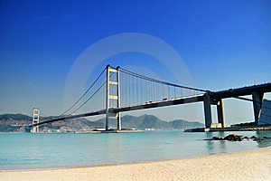 Cross-sea Bridge Stock Photography - Image: 16022482
