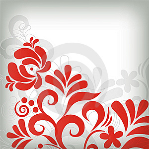 Abstract Floral Background In Grunge Style Royalty Free Stock Photography - Image: 16022867