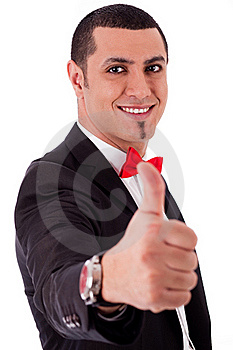 Business Man Showing His Success With Thumbs Up Stock Image - Image: 16026911
