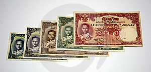 Older Thai Banknote Rama 9 Model 9 Royalty Free Stock Photo - Image: 16028095