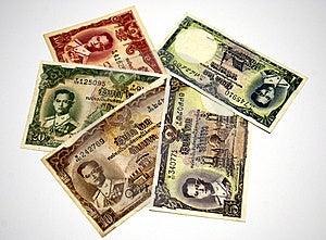 Older Thai Banknote Rama 9 Model 9 Stock Image - Image: 16028101