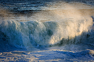 Powerful Surging Storm Swell. Stock Images - Image: 16031994