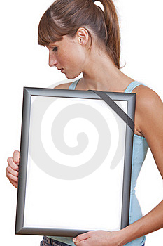 Picture Frame With Black Band Stock Photos - Image: 16032113