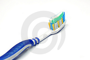 Blue Tooth Brush . Stock Image - Image: 16032821
