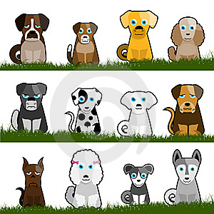 Cute Dogs Royalty Free Stock Images - Image: 16034779