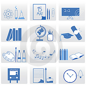 Education Icons Stock Photos - Image: 16034803