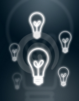 Light Bulbs On Gray Background Royalty Free Stock Photography - Image: 16034987