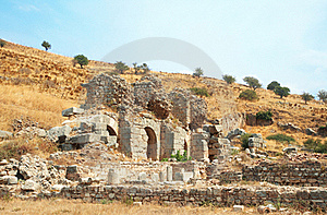 Ruins Of Columns In Ancient City Of Ephesus Royalty Free Stock Photo - Image: 16035515
