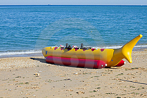 Banana Boat As Shark Royalty Free Stock Photos - Image: 16036378