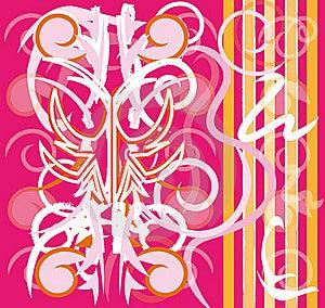 Pink Wallpaper Design Royalty Free Stock Photo - Image: 16037175
