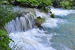 Beautiful Plitvice Waterfall Stock Photo - Image: 16038330