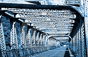 Old Metal Bridge Royalty Free Stock Images - Image: 16038799