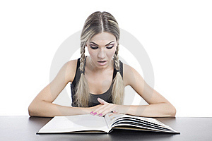 Girl Reading A Book Stock Image - Image: 16039411