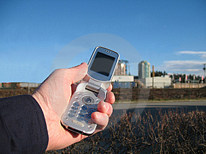 Mobile Phone Clear Blue Sky Stock Photography - Image: 16040362