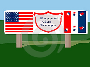 Patriotic Road Sign Stock Photo - Image: 16042250