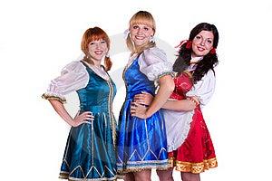 Three  German/Bavarian Women Stock Photo - Image: 16042320