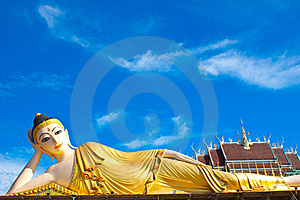 Inclined Buddha Royalty Free Stock Images - Image: 16042369
