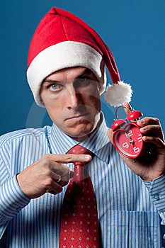 Man In Red Christmas Hat Stock Photos - Image: 16044513