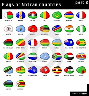Flags Of Africa Royalty Free Stock Images - Image: 16046139