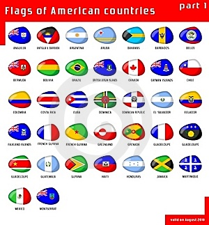 Flags Of Americas Royalty Free Stock Photography - Image: 16046157
