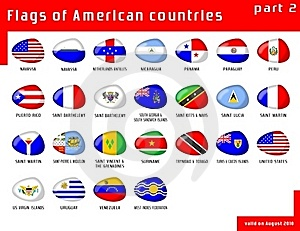 Flags Of Americas Royalty Free Stock Photos - Image: 16046168