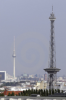 Berlin's Fernsehturm And Funkturm Royalty Free Stock Photography - Image: 16048157
