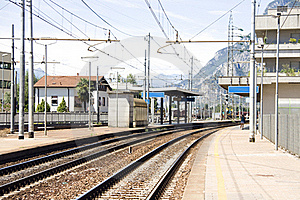 Little Mountain Rail Station Stock Photography - Image: 16048582