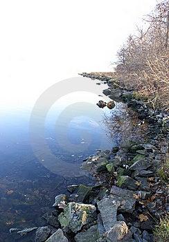 Längs Shoreline Arkivbild - Bild: 16051872