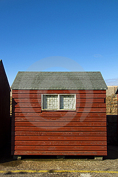 Red Hut, Blue Sky Stock Photography - Image: 16052102