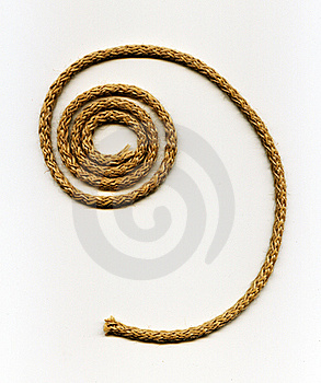 Spiral Rope Made From Natural Fibers Royalty Free Stock Images - Image: 16053749