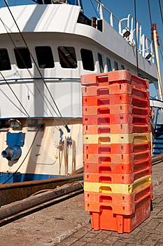 Fish Crates Royalty Free Stock Photos - Image: 16054648
