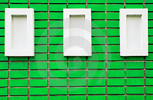 Green Brick Wall Royalty Free Stock Images - Image: 16054669