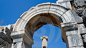Antique Ruins In Ephesus Royalty Free Stock Photos - Image: 16055558