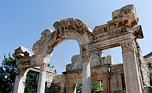 Antique Ruins In Ephesus Royalty Free Stock Image - Image: 16055596