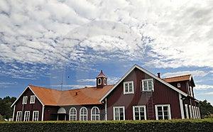 Swedish Village Public Building Royalty Free Stock Image - Image: 16056526