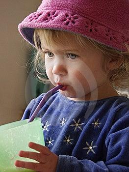 Toddler Straw Royalty Free Stock Photo - Image: 16056885
