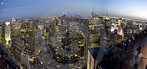 New York By Night Royalty Free Stock Photography - Image: 16059237