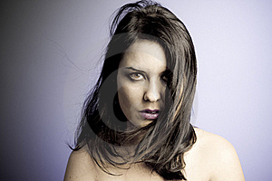 Voluptuous Look Of Brunette Young Woman Stock Image - Image: 16060891