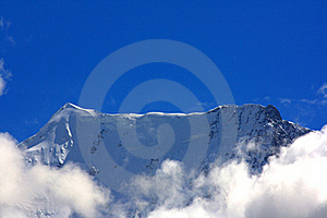 Mountain Top Over Clouds Royalty Free Stock Photos - Image: 16063778